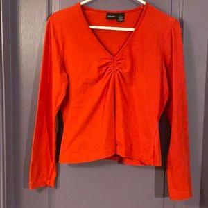 Xhilaration Juniors Long Sleeve Vneck Shirt Size L